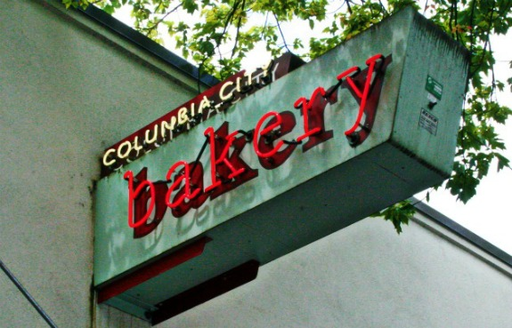 Columbia City Bakery Sign