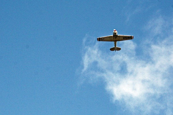 Remembrance Day Airplane overhead in Chemainus